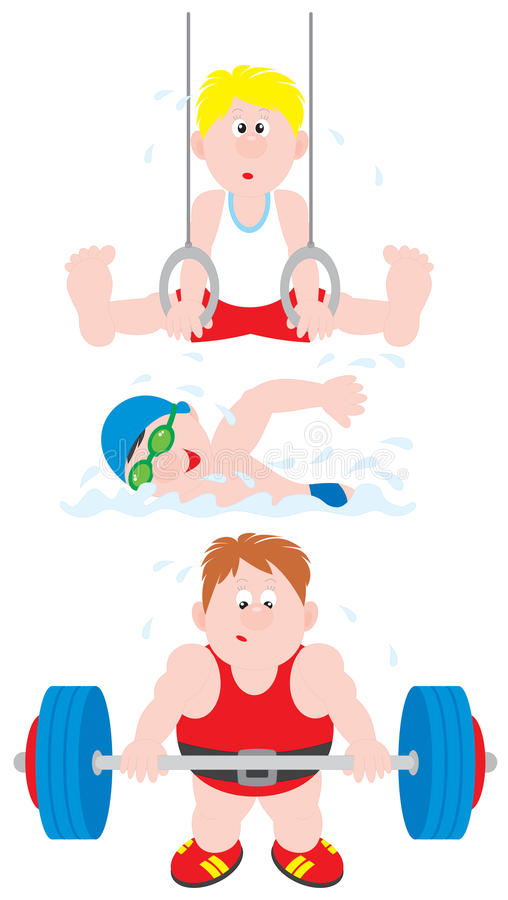 Download Gymnast, Swimmer, Weightlifter Stock Photography - Image: 21073322