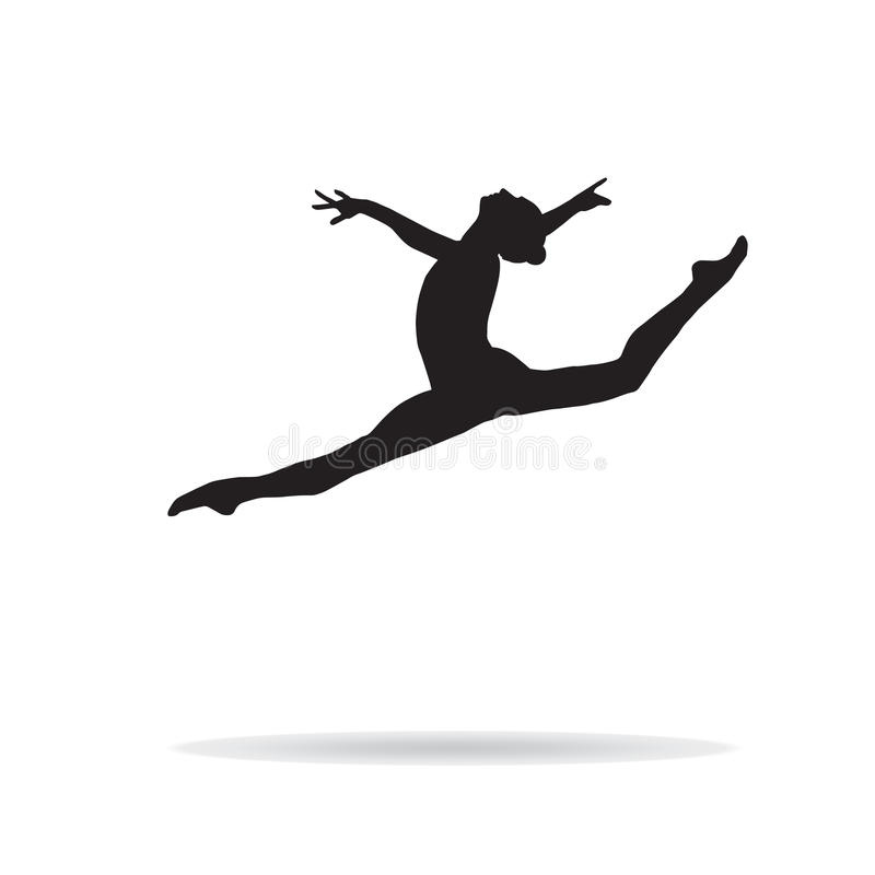 Download Gymnast woman stock vector. Image of healthy, black, flexibility - 81608760