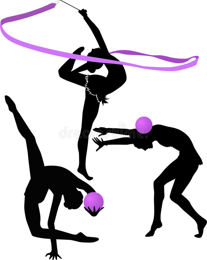 gymnaste illustration stock