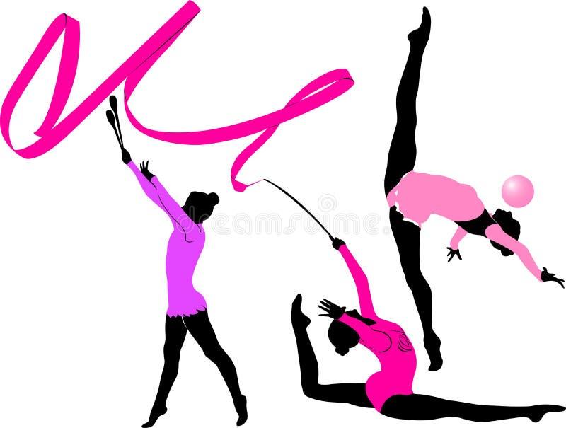 gymnaste illustration libre de droits