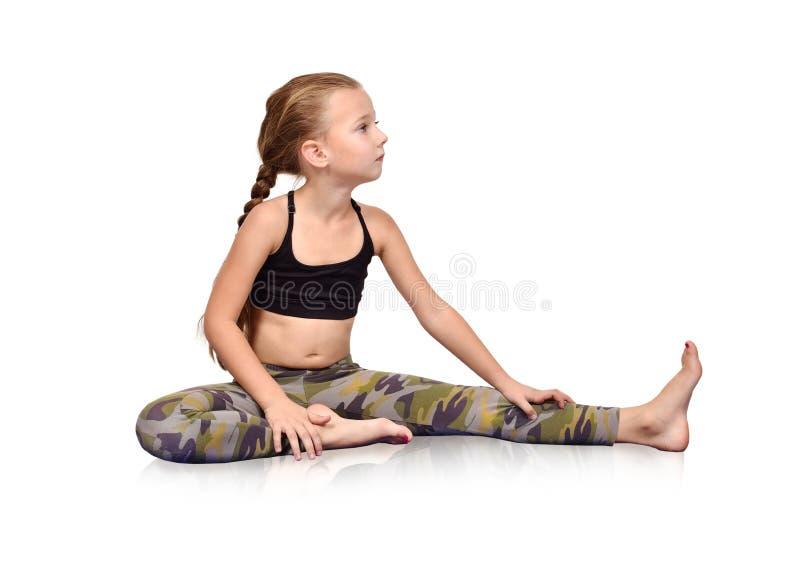 Gymnaste de petite fille image libre de droits