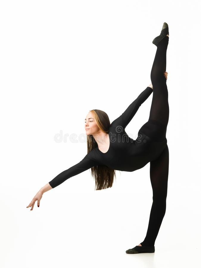 Gymnaste gracieux image stock