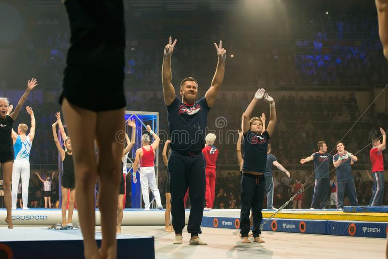 Gymnaste légendaire Aleksey Nemov image libre de droits