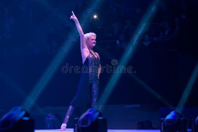 Gymnaste légendaire Svetlana Khorkina photos stock