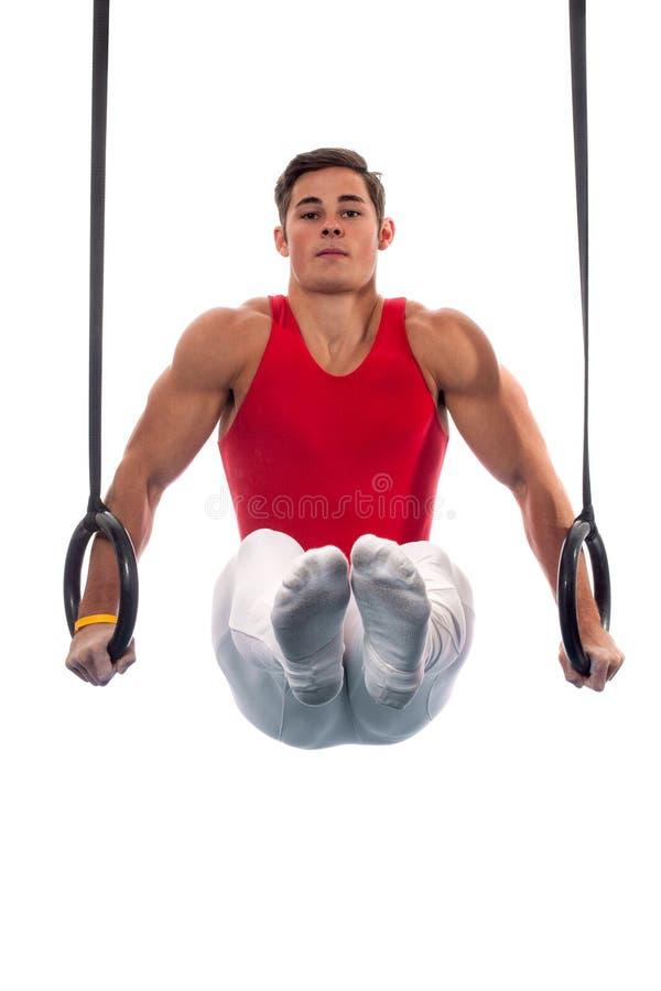 Gymnaste mâle photo libre de droits