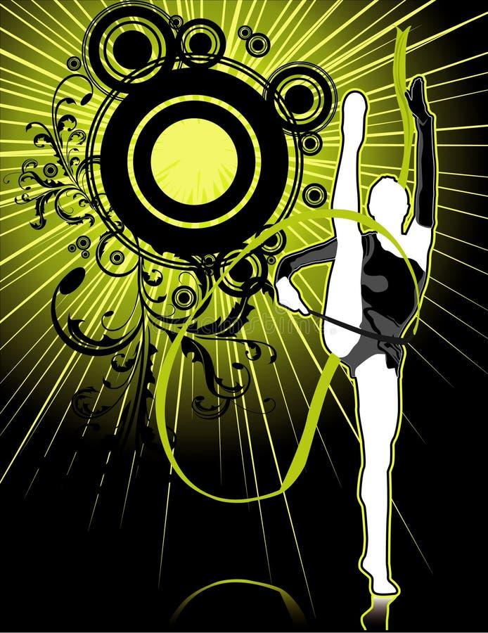 gymnastfolkvektor stock illustrationer