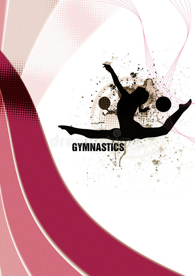 Download Gymnastic stock illustration. Illustration of little - 23473631