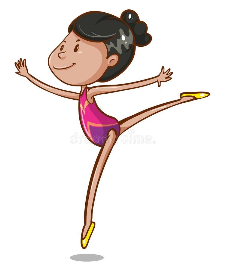 gymnastic ilustração do vetor