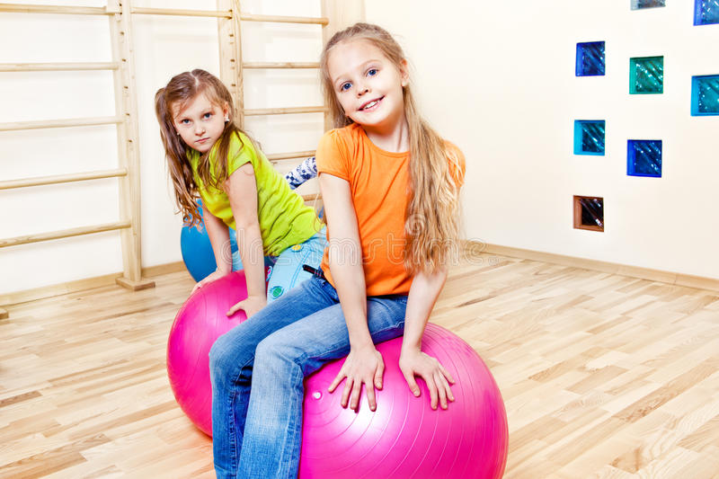 Gymnastic Balls Royalty Free Stock Images