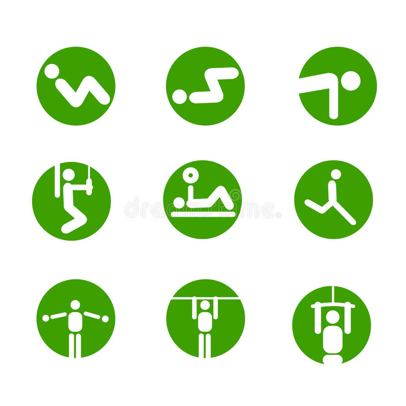 Free Gymnastic Exercises Symbols Stock Images - 10616254
