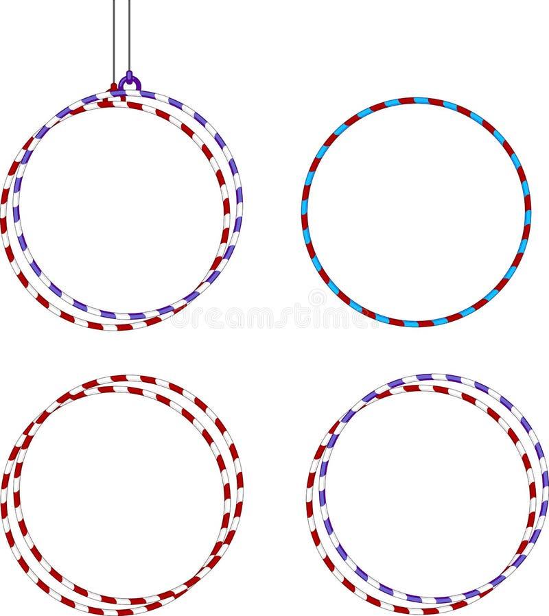 Gymnastic hoop. Gymnastic Equipments. Gymnastic hoop on white background stock illustration