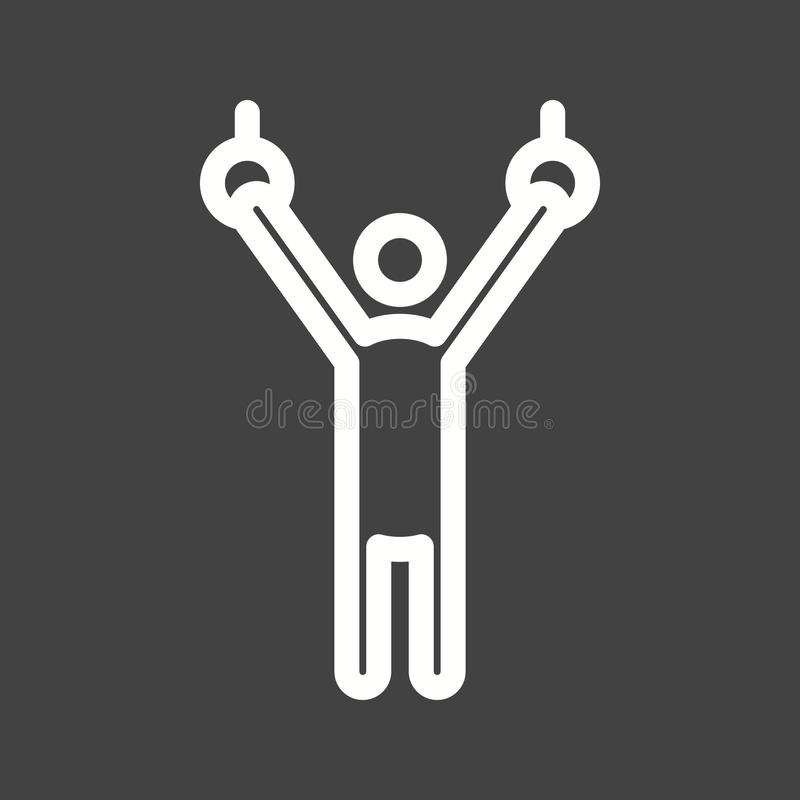 Gymnastic III. Gymnastics, olympic, rings icon vector image. Can also be used for olympics. Suitable for mobile apps, web apps and print media vector illustration