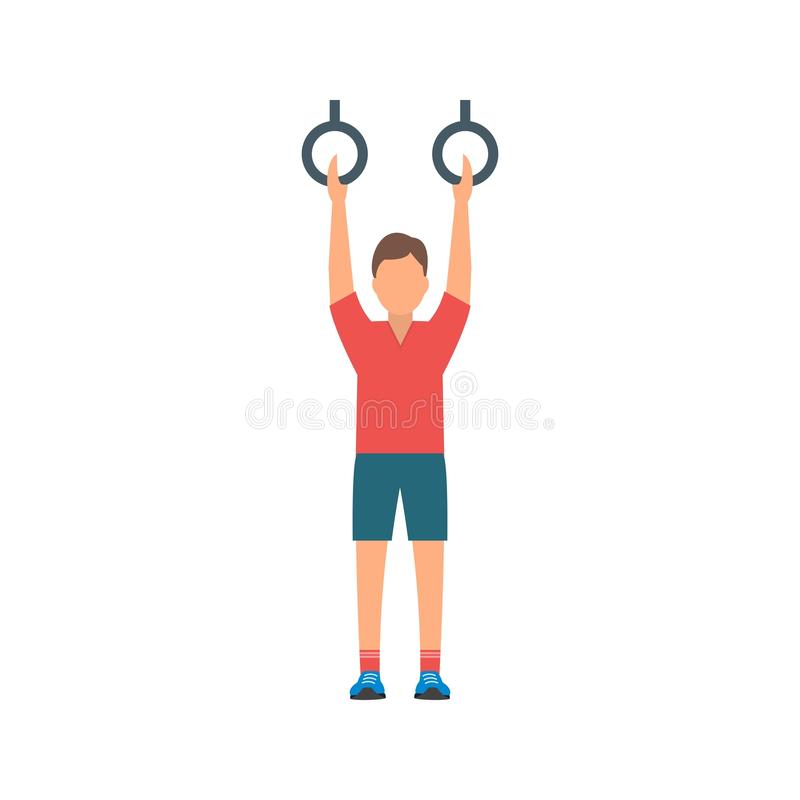 Gymnastic III. Gymnastics, olympic, rings icon vector image. Can also be used for olympics. Suitable for mobile apps, web apps and print media royalty free illustration