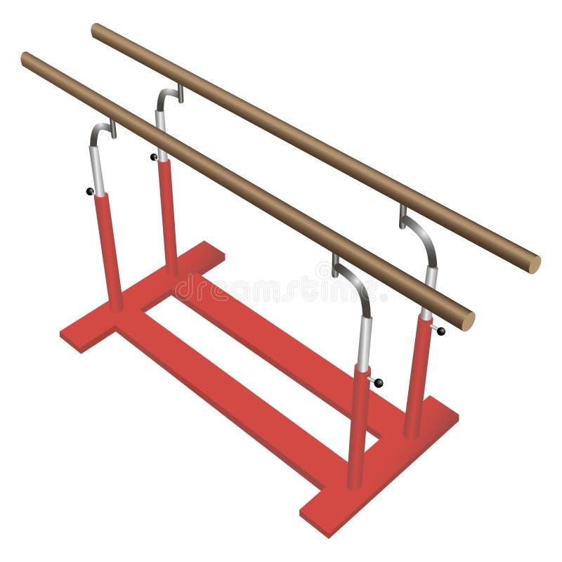 Gymnastic parallel bars. Parallel bars for gymnastic sports. Vector illustration stock illustration