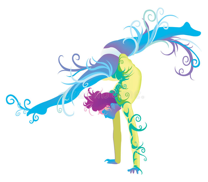 Gymnastic Performer With Fantasy Concept Stock Photos