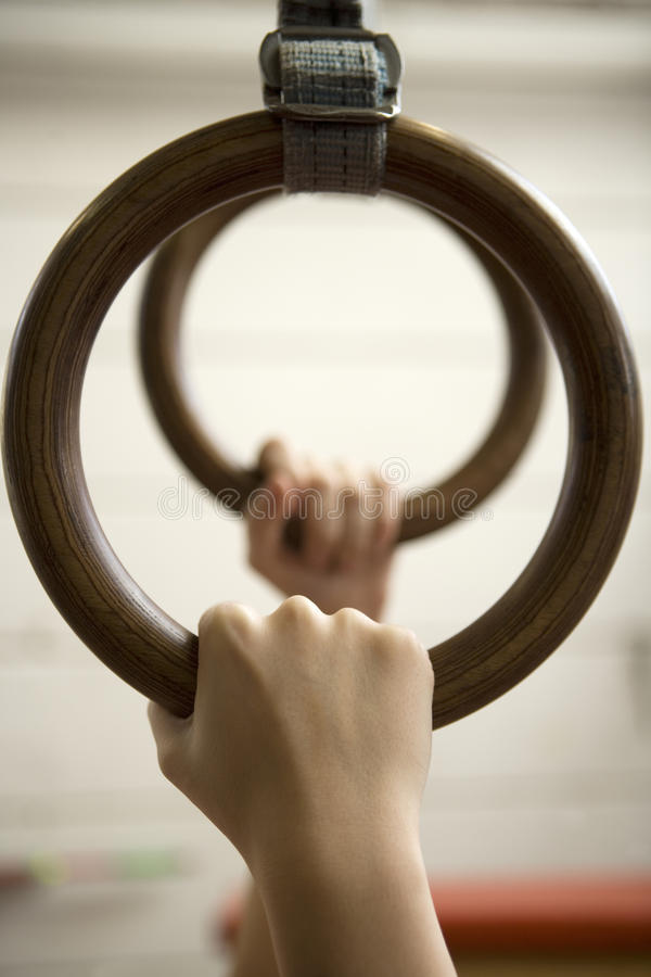 Download Gymnastic Rings stock image. Image of competitive, gymnasium - 27177423