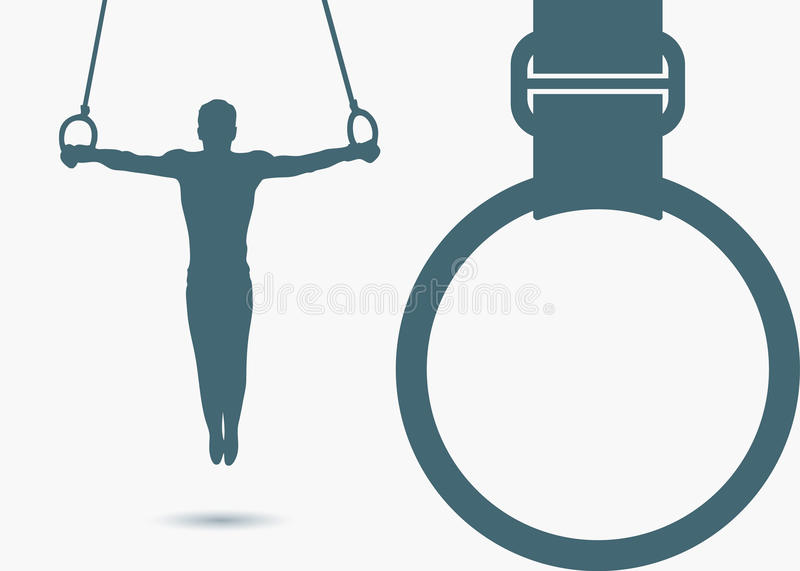 Gymnastic Rings Background Stock Photography