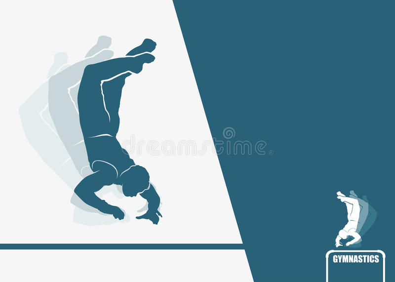 Download Gymnastics background stock vector. Image of competitor - 27951955