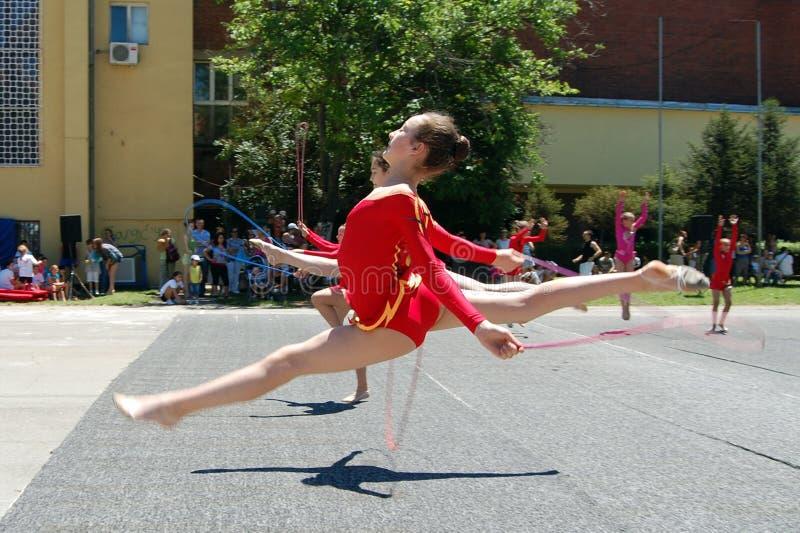 Gymnastics event in Novi Sad royalty free stock image