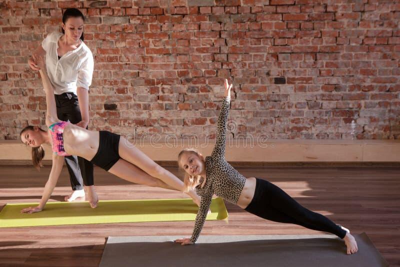Gymnastics exercises. Healthy children lifestyle stock photo