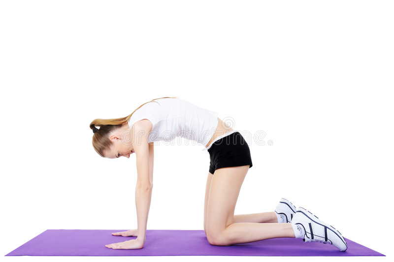 Download Gymnastics Of Female On The Gymnastic Carpet Royalty Free Stock Images - Image: 8842899