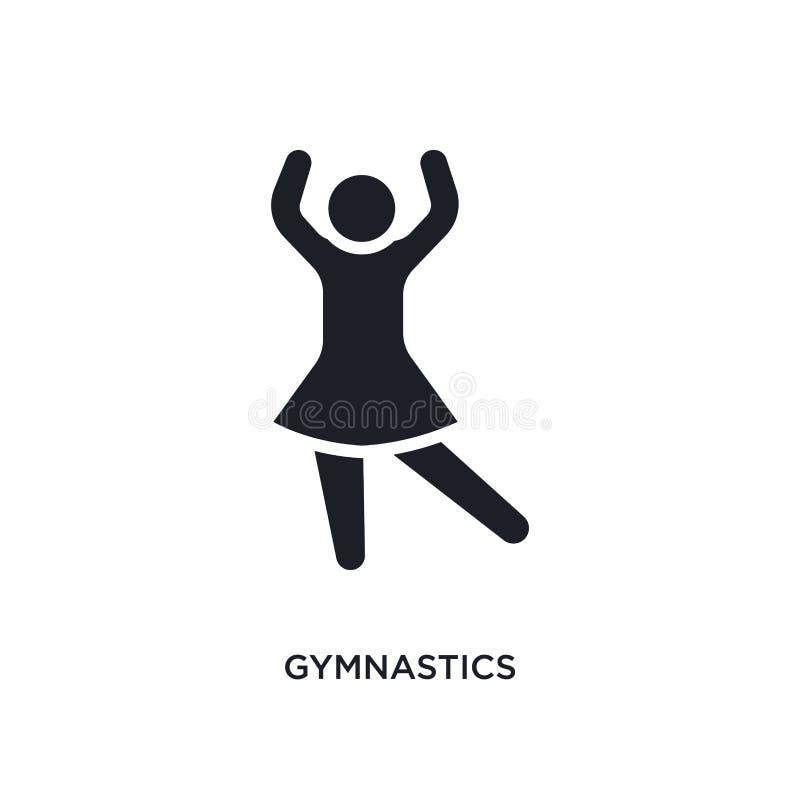gymnastics isolated icon. simple element illustration from humans concept icons. gymnastics editable logo sign symbol design on stock illustration
