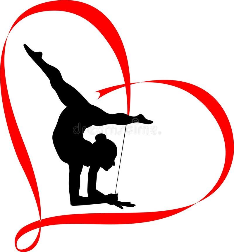 Gymnastics logo royalty free illustration