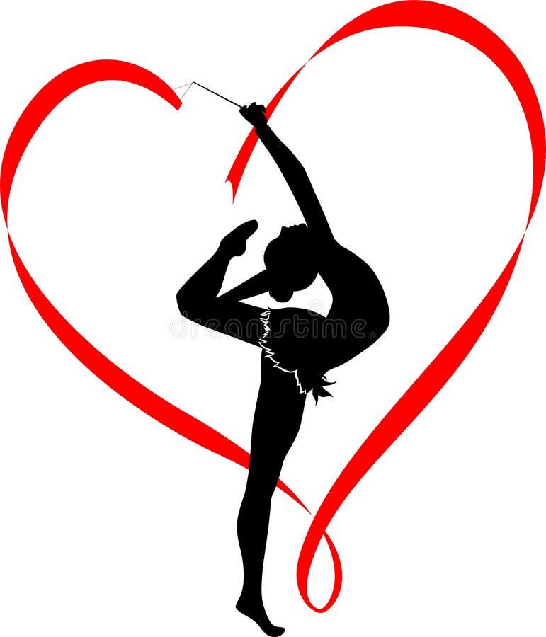 Gymnastics logo stock illustration