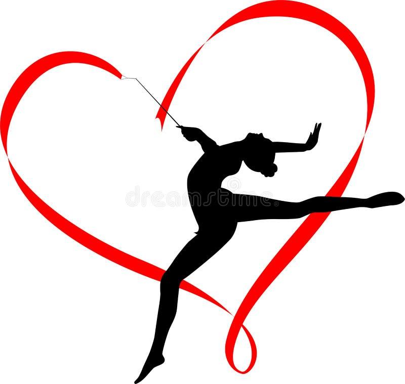 Gymnastics logo vector illustration