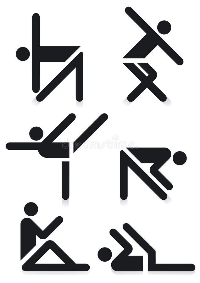 Gymnastics Pictograms Stock Photos