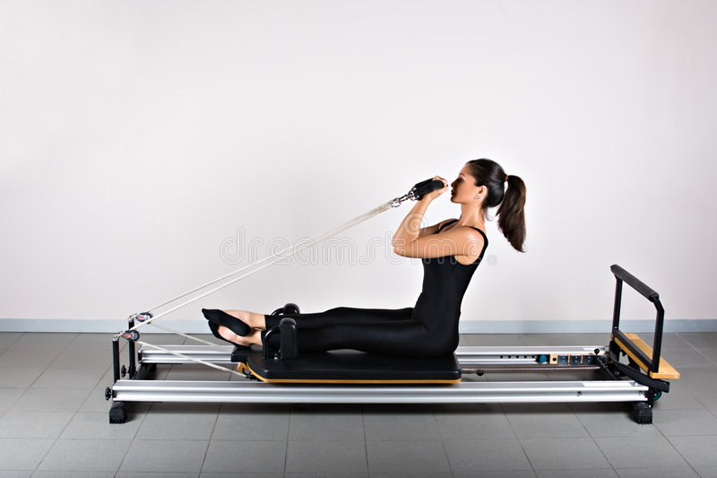 Gymnastics pilates stock photos