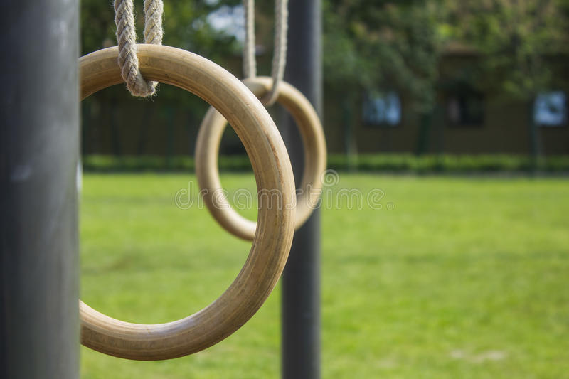 Gymnastics rings 1 stock photography