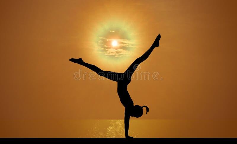 Gymnastics Sky Stock Image