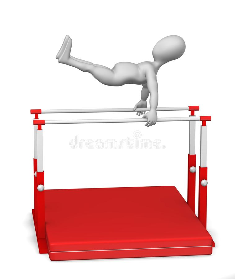 Gymnastiek vector illustratie