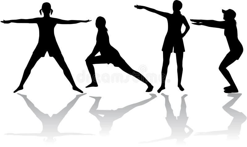 Gymnastiek stock illustratie