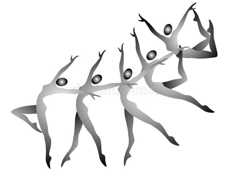 Gymnastiek- stock illustratie