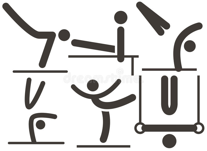 Gymnastiek Artistiek pictogram stock illustratie
