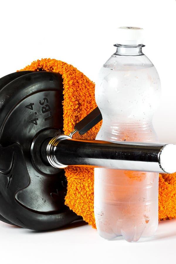 Gymnastiek en geschiktheidsmateriaal stock afbeelding