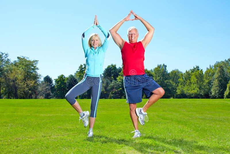 Gymnastiek, Geschiktheid, gezonde levensstijl. royalty-vrije stock foto