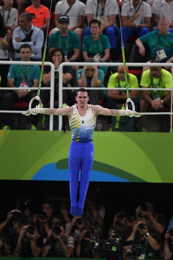 Gymnastiek- in Olympische spelen 2016 royalty-vrije stock afbeelding