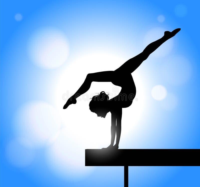 gymnastiek op de straal vector illustratie