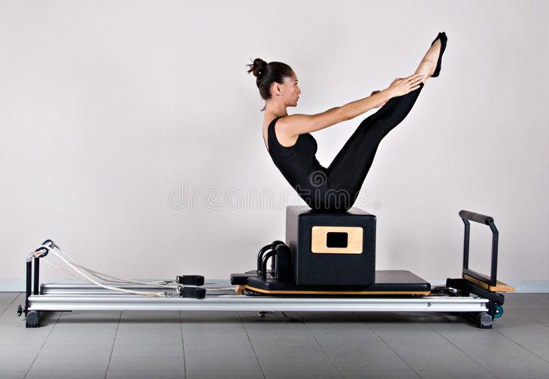 Gymnastiek pilates stock foto