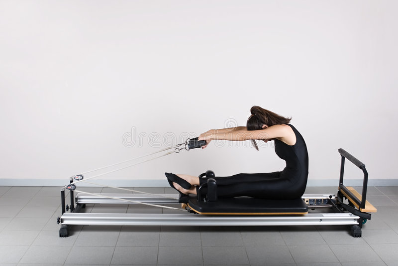 Gymnastiek pilates royalty-vrije stock afbeeldingen