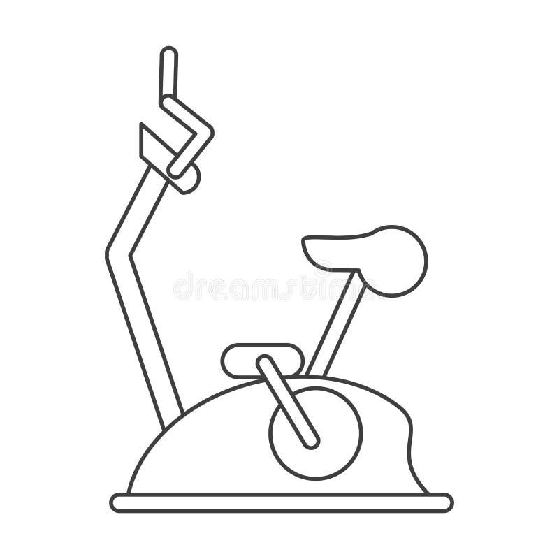 Gymnastiek van de de machinegeschiktheid van de overzichtsfiets de statische stock illustratie