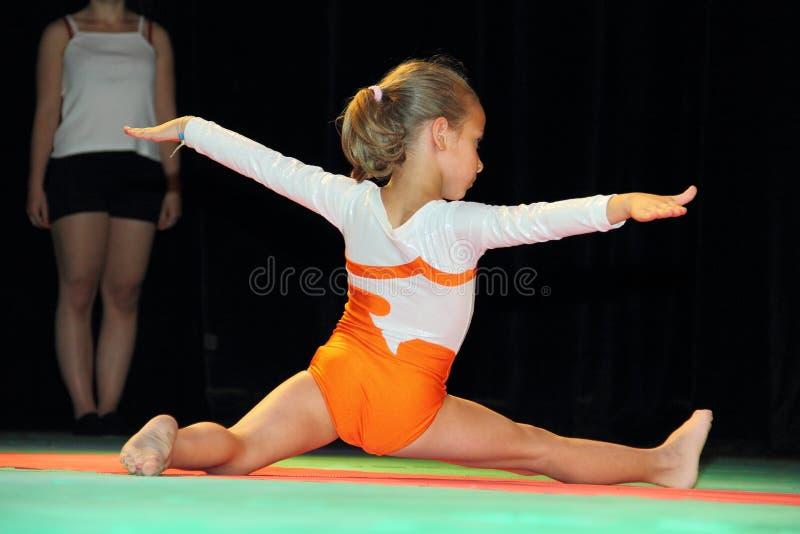 Gymnastiek voor kinderen royalty-vrije stock foto
