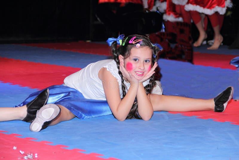 Gymnastiek voor kinderen stock afbeeldingen