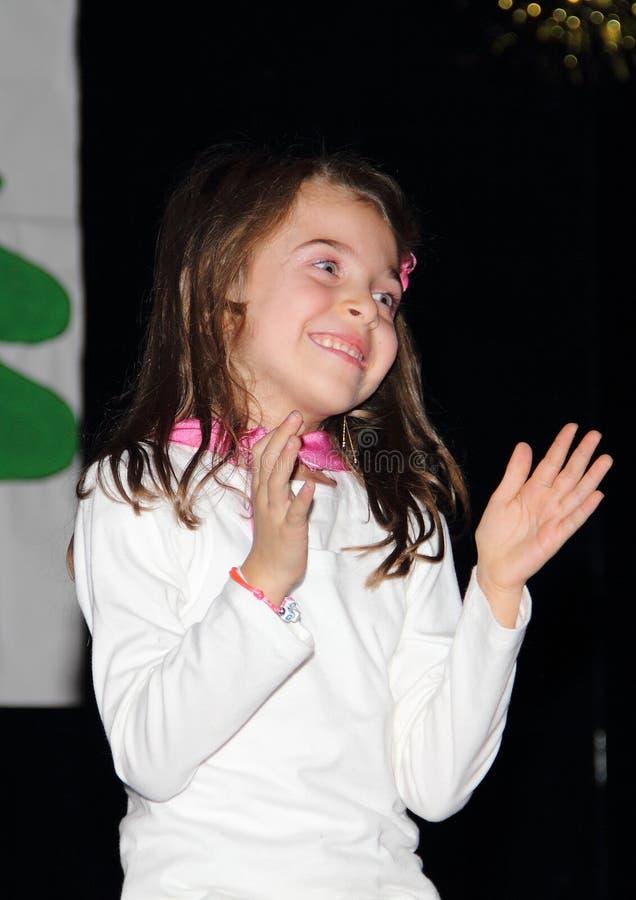 Gymnastiek voor kinderen royalty-vrije stock afbeelding