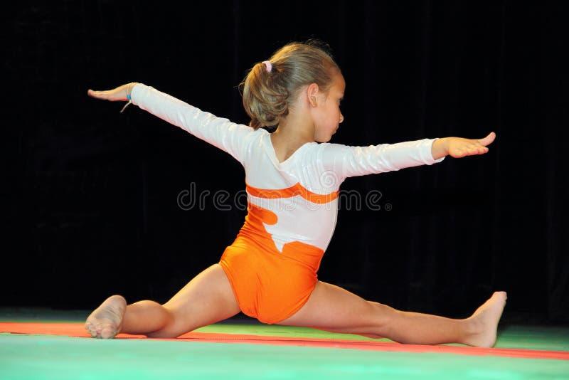 Gymnastiek voor kinderen royalty-vrije stock afbeeldingen