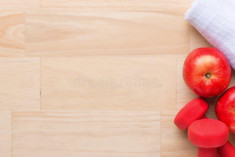 gymnastiekconcept Training planning Gezond levensstijl en gewichtsverlies stock foto