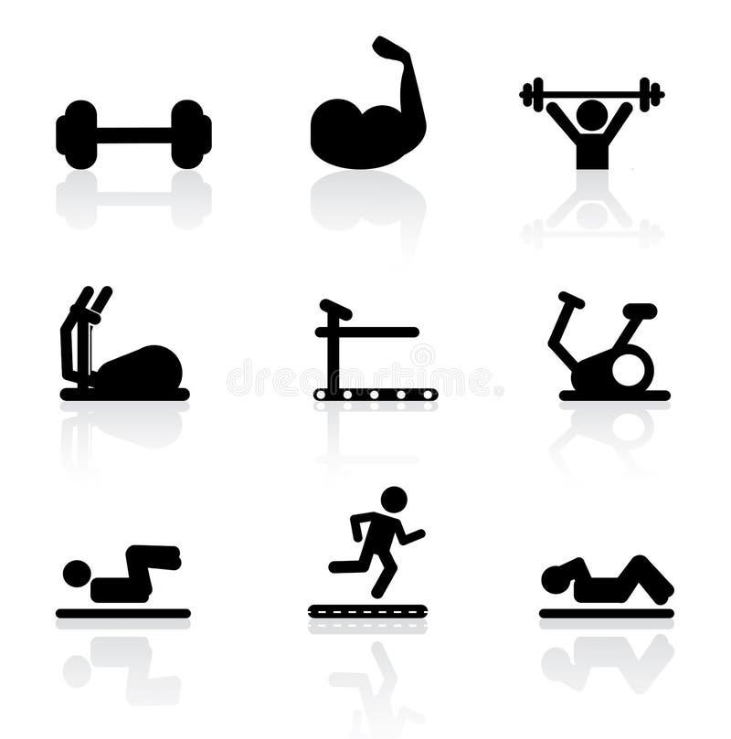 Gymnastiekpictogrammen vector illustratie